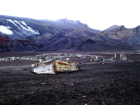Abandoned Whaling Station, Whaler's Bay, Deception Island, Antarctica;  By Norma J. Longo