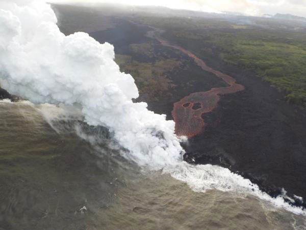 New volcanic eruption in Hawaii spews more lava into the ocean