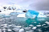 """Turquoise – From """"Antarctica """" Series; By Denis Delestrac"""