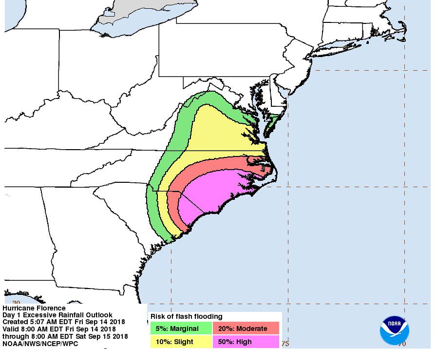 Hurricane Florence slamming North Carolina coast – live updates