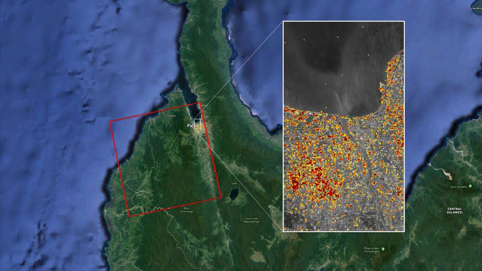NASA Maps Indonesia Quake, Tsunami Damage