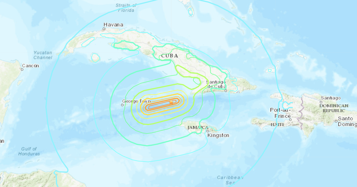 Magnitude 7.7 earthquake strikes off the coast of Jamaica