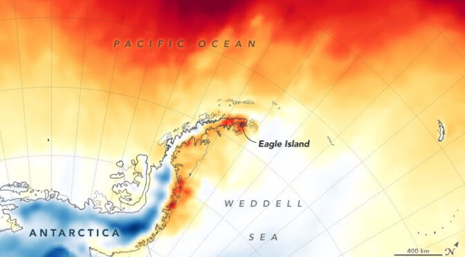Antarctica melts under its hottest days on record