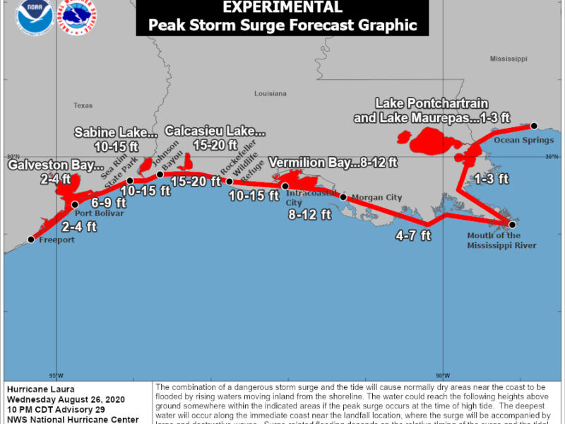 Why Hurricane Laura's Storm Surge Could Be Unsurvivable