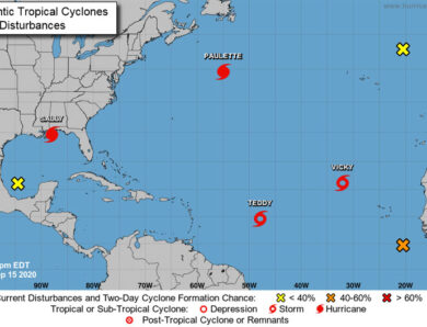 Five cyclones churn in Atlantic Ocean for only second time in history