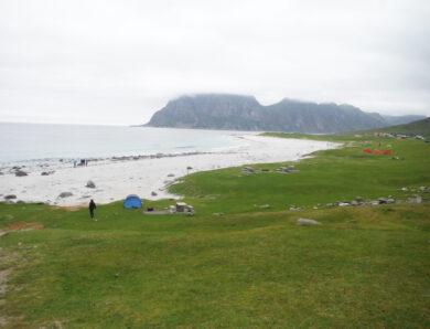 Two Beaches: Haukland and Uttakleiv Leknes, Lofoten, Norway; by Norma J. Longo